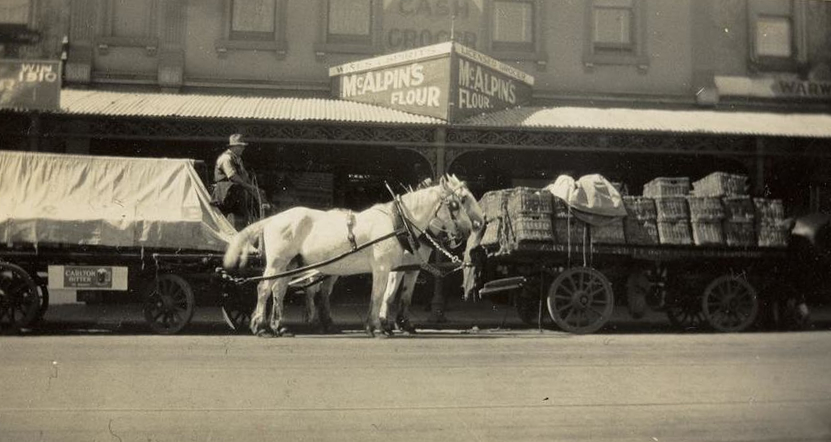 Horse & Cart Deliveries Melbourne 1886